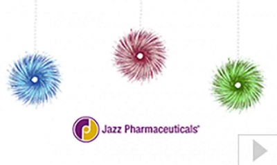 Jazz Pharmaceuticals corporate holiday ecard thumbnail
