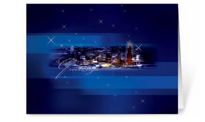 midnight oasis corporate holiday greeting card thumbnail