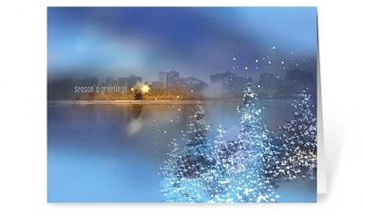 nightfall corporate holiday greeting card thumbnail
