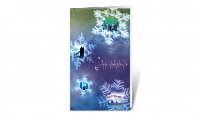 frosty vision corporate holiday greeting card thumbnail