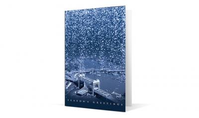 hardesty hanover - cascade of lights corporate holiday greeting card thumbnail