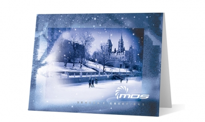 MDS Aero corporate holiday greeting card thumbnail