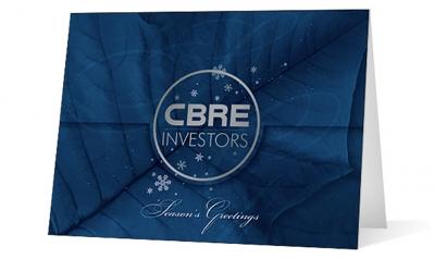 CBRE corporate holiday greeting card thumbnail