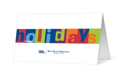 BBK custom corporate holiday greeting card thumbnail
