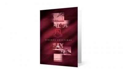 Arnstein Lehr - World Landmarks corporate holiday greeting card thumbnail