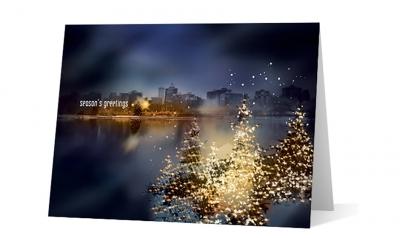 asset preservation - nightfall corporate holiday greeting card thumbnail