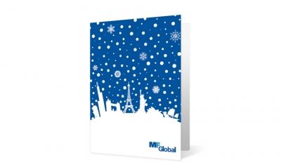 MF Global corporate holiday greeting card thumbnail
