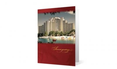 Hilton corporate holiday greeting card thumbnail