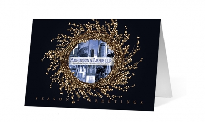 Arnstein Lehr - Wreath Views corporate holiday greeting card thumbnail