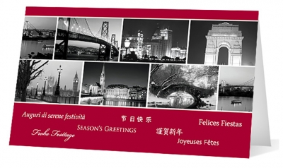 custom cities corporate holiday greeting card thumbnail