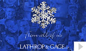 Lanthrop custom corporate holiday business ecard