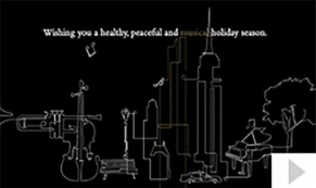 Park Hyatt custom corporate holiday business ecard