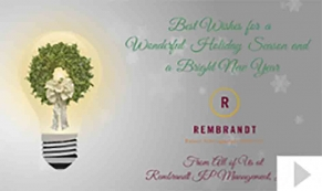 Rembrandt 2013 custom corporate holiday business ecard