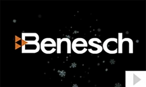 Benesch 75th Anniversary custom corporate holiday business ecard