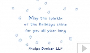 Phelps Dunbar LLP custom corporate holiday business ecard