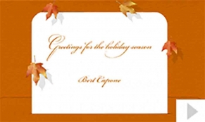 Cetrulo Capone custom corporate holiday business ecard