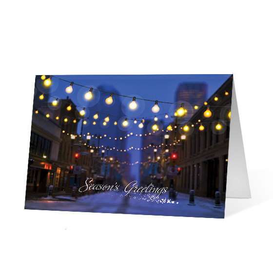 Luminous Lane corporate holiday business print card