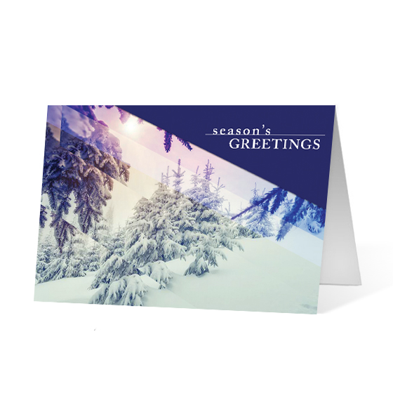 Photo Wish corporate holiday business print card