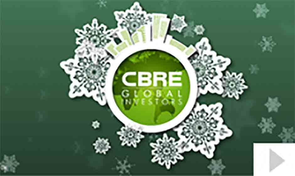 CBRE Global Investors corporate holiday ecard thumbnail