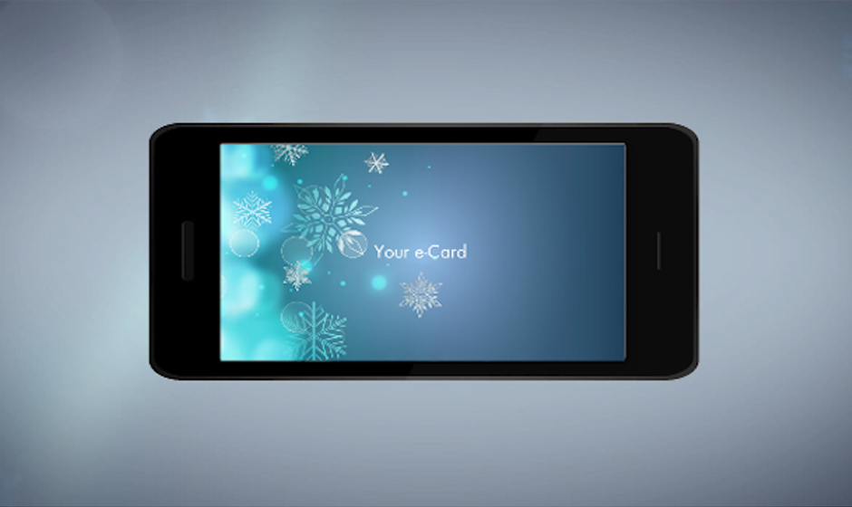 phone intro corporate holiday ecard