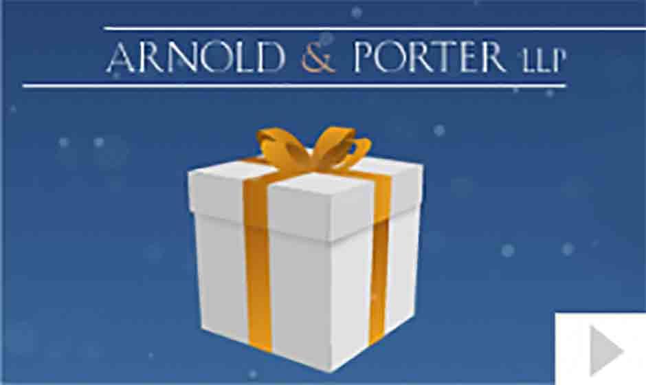 2014 Arnold Porter corporate holiday ecard thumbnail