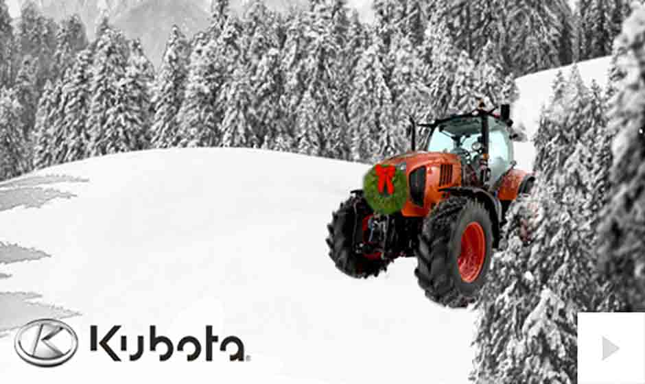 Kubota corporate holiday ecard thumbnail