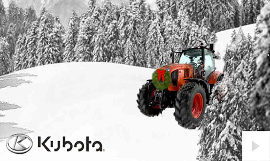 Kubota corporate holiday ecard thumbnail