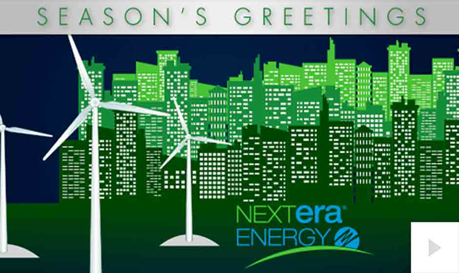 Nextera Energy corporate holiday ecard thumbnail