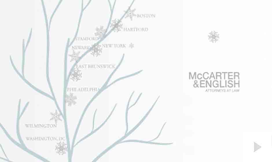 McCarter English corporate holiday ecard thumbnail