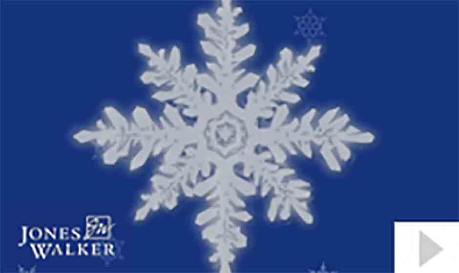 Jones Walker corporate holiday ecard thumbnail