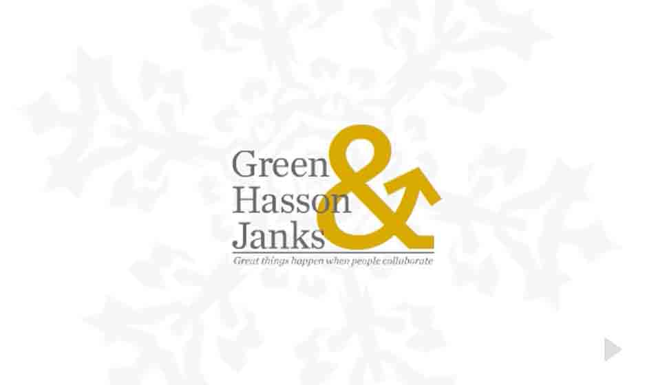 Green Hasson Janks corporate holiday ecard thumbnail