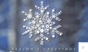 Snowflake Crystal corporate holiday ecard thumbnail