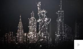 City Sparkles corporate holiday ecard thumbnail