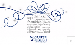 McCarter English custom 2016 corporate holiday ecard thumbnail