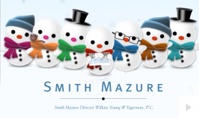 2016 Smith Mazure - jolly snowmen corporate holiday ecard thumbnail