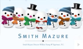 2016 Smith Mazure - jolly snowmen corporate holiday ecard thumbnail