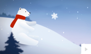 polar bear corporate holiday ecard thumbnail