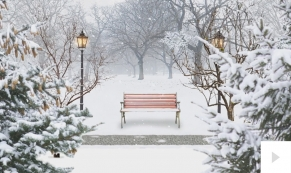 snowy city park holiday e-card thumbnail