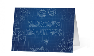 Holiday Blueprint corporate holiday print card thumbnail