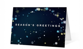 Snowflake Symphony corporate holiday greeting card thumbnail