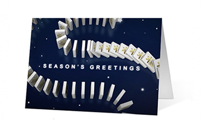 Holiday Dominoes Christmas Greeting Card