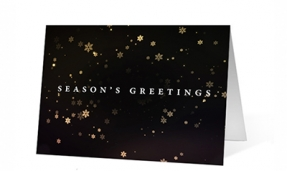 Snowflake Revolution Christmas Greeting Card