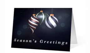 Elegant Ornaments Christmas Greeting Card
