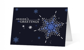 Snowflake Festive Spirit corporate holiday greeting card thumbnail