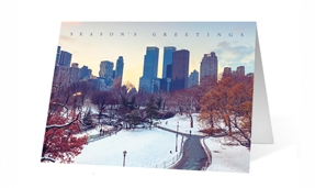 Park Grandeur Christmas Greeting Card