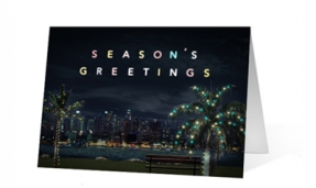 Palm Tree Wishes Holiday Greeting Card