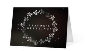 Shimmering Snowflake Wishes corporate holiday greeting card thumbnail