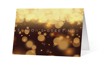 Warm Lights Wishes Christmas Greeting Card