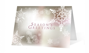 White Snowflake lights corporate holiday greeting card thumbnail