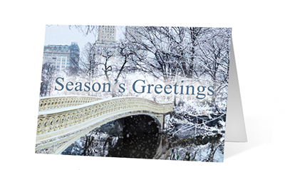 Park Winter Is Coming Christmas Greeting Card